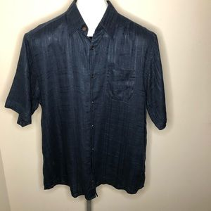 Tommy Bahama Navy 100% Linen Camp Shirt